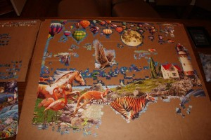 Life 24,000 piece puzzle - Balloons and Birds