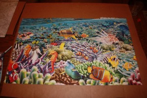 "Life 24,000 piece puzzle - Section ""B"" bottom"