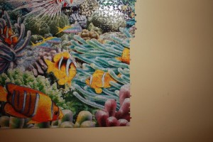 Life 24,000 piece puzzle - Mounting