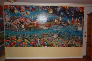 Life 24,000 piece puzzle - Mounting on the wall